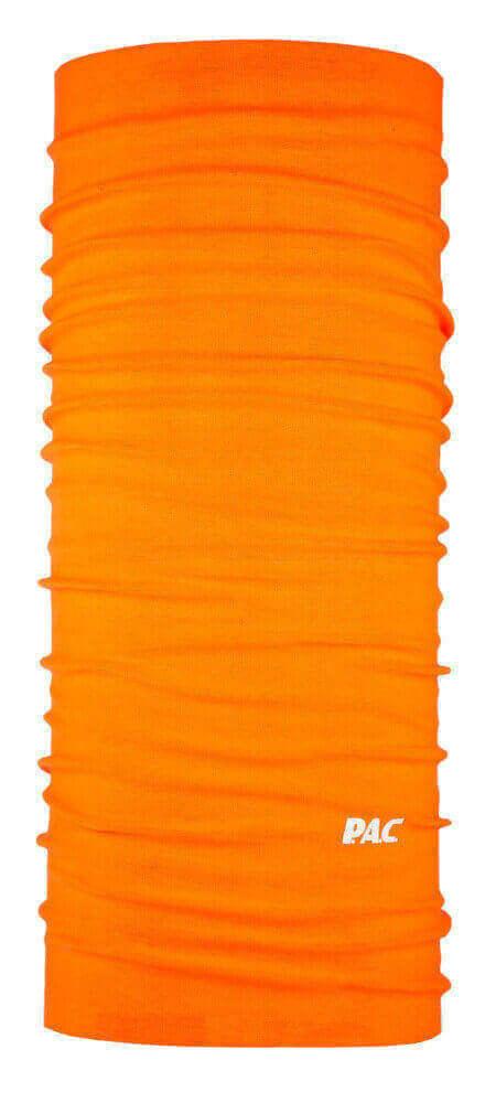 Multifunktionsschal Original neon orange aus reiner Merinowolle von P.A.C