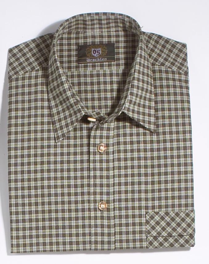 Feinkariertes Jagd- und Freizeithemd aus reiner Baumwolle