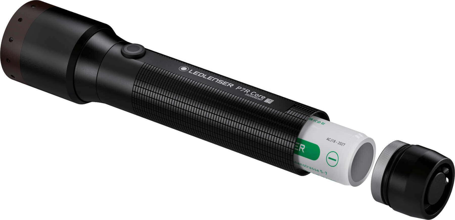 LED Lampe P7R Core Akku wechsel