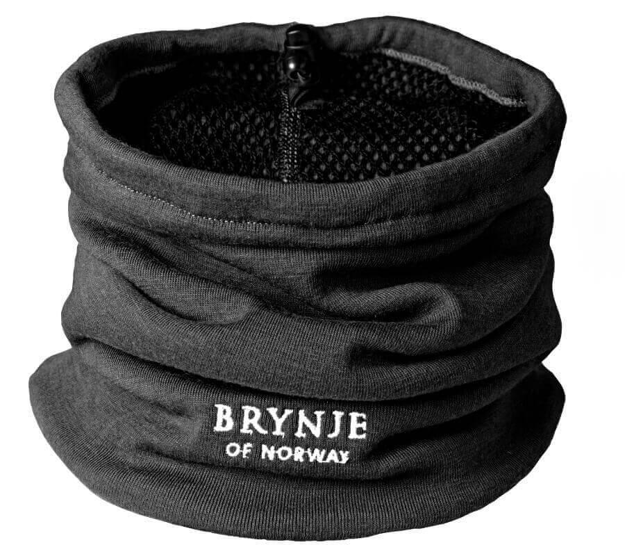 Thermokragen aus Merinowolle schwarz von Brynje