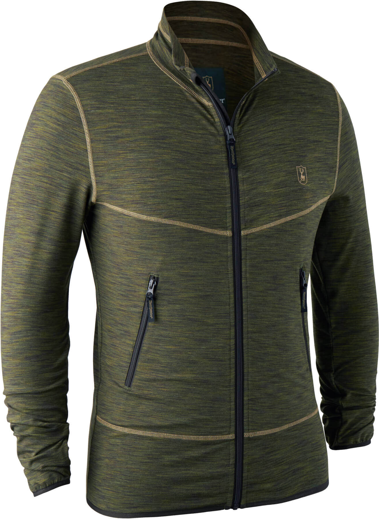 elastische dünne Fleecejacke mit Taschen und Daumengriff von Deerhunter