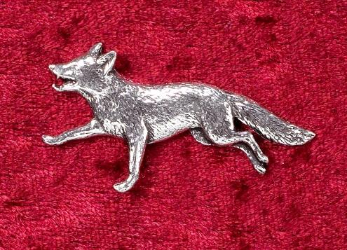 Hutanstecker Fuchs aus Zinn