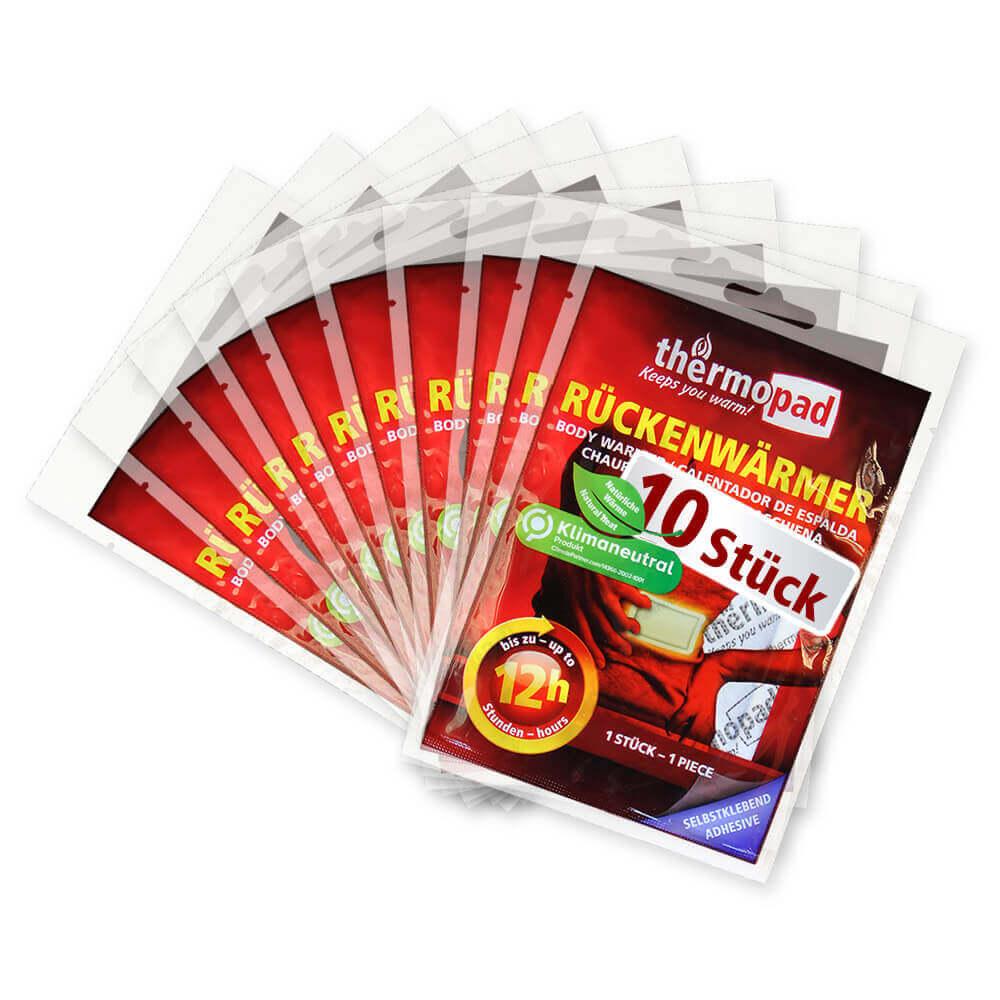 10er Pack Rückenwärmer von Thermopad