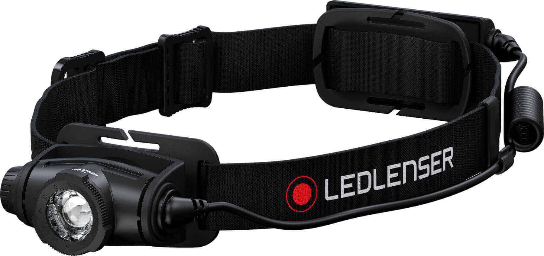 LED Stirnlampe schwarz mit LedLenser Schriftzug H5 Core