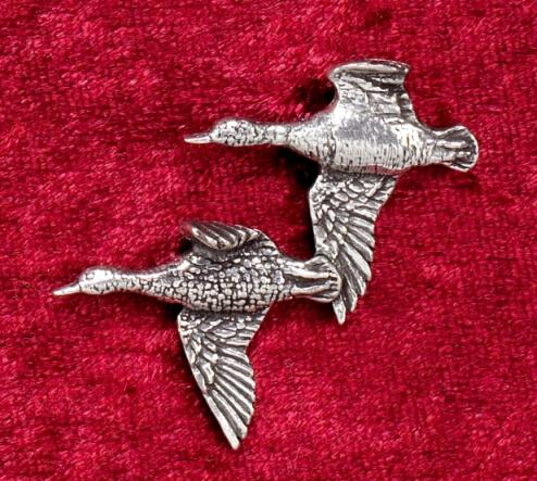 Hutanstecker Enten  aus Zinn