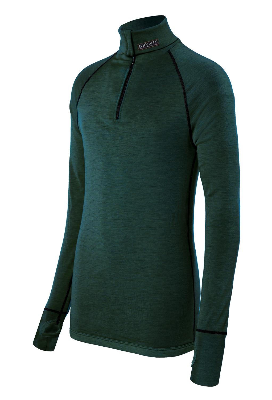 Brynje Actic Zip Polo Thermoshirt mit Daumengriff und Merinowolle für den Ansitz im Winter