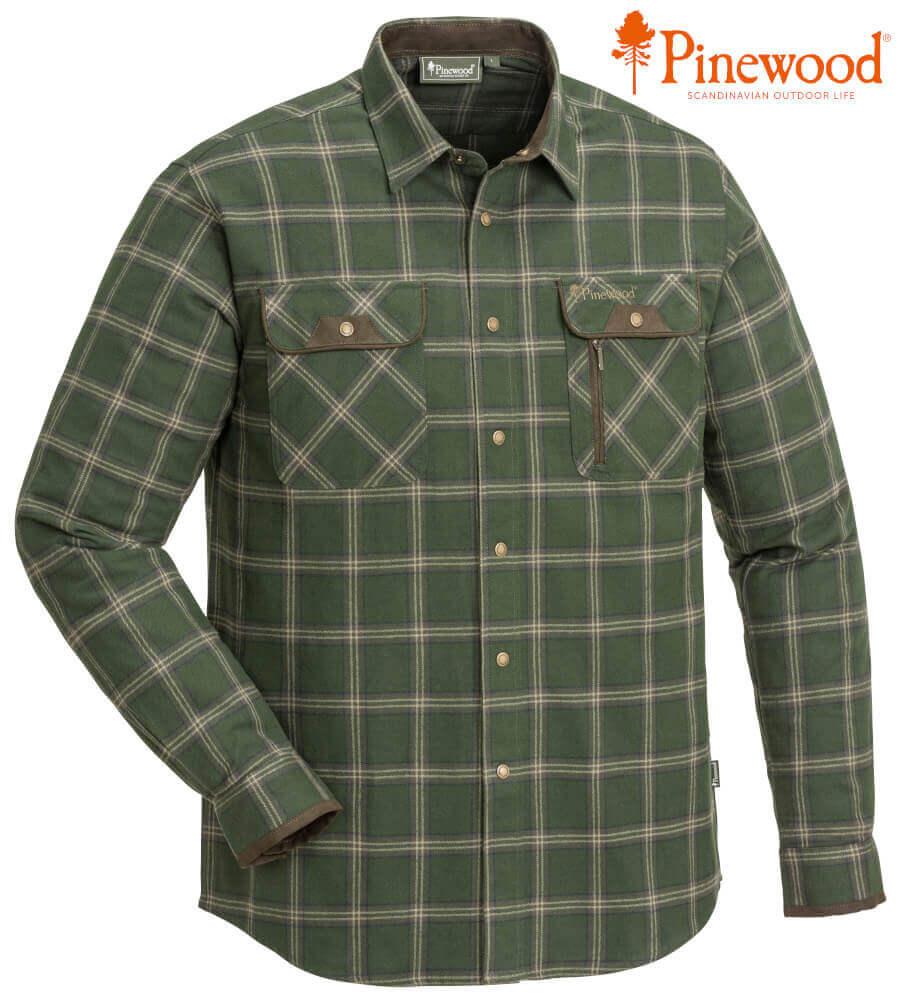 Jagdhemd Prestwick Exclusiv mossgreen mit mehreren Brusttaschen von Pinewood