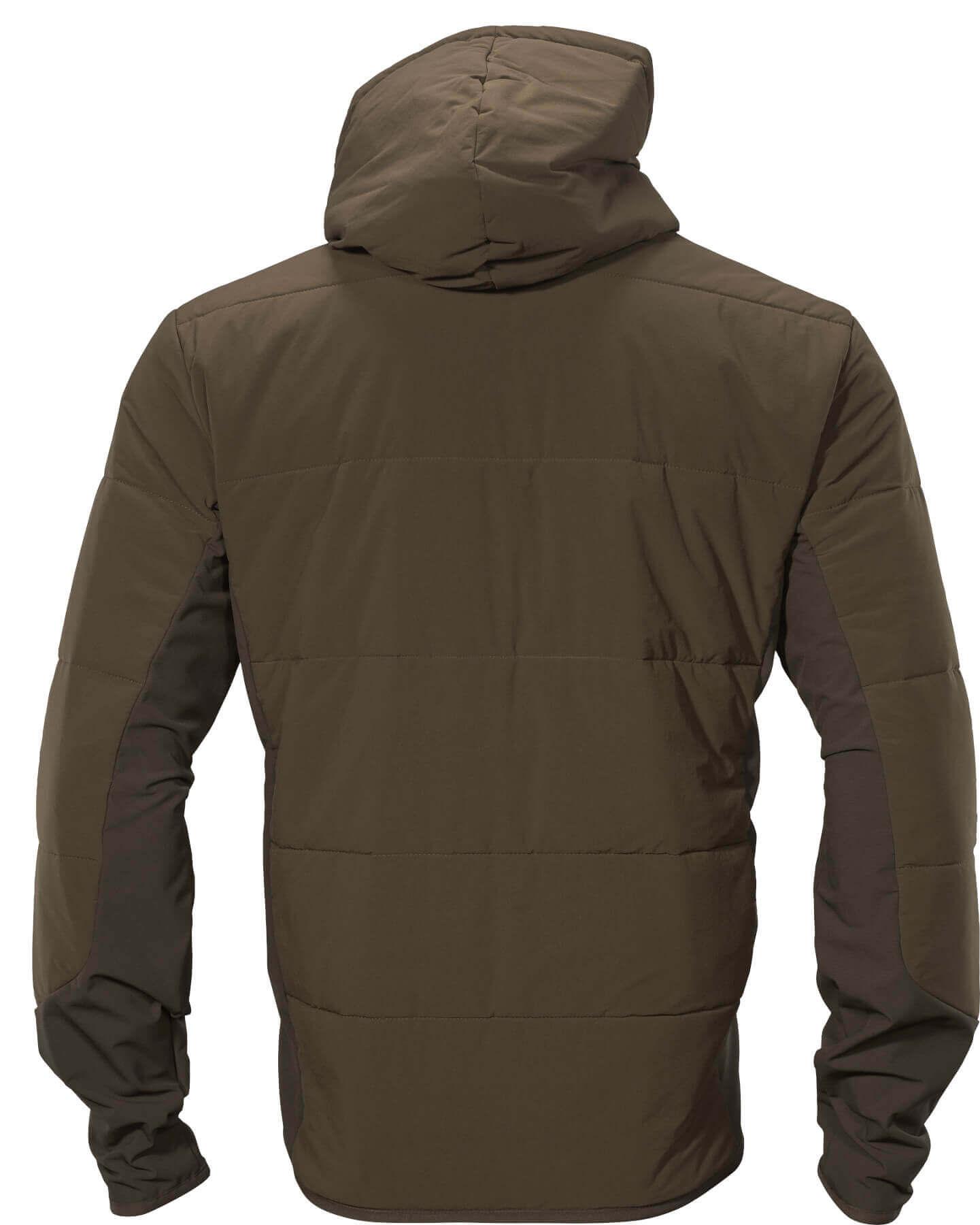 Rückseite Midlayer insulated hunting green/shadow brown