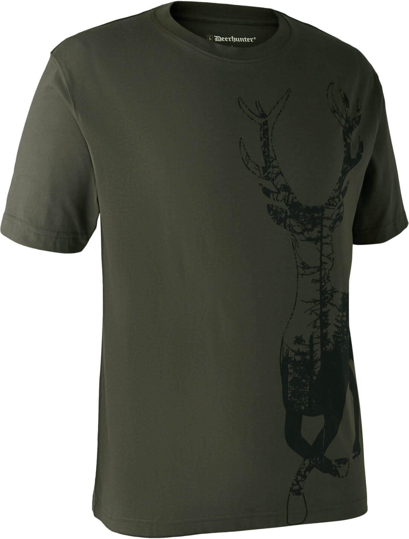 T-Shirt Deer bark green von Deerhunter
