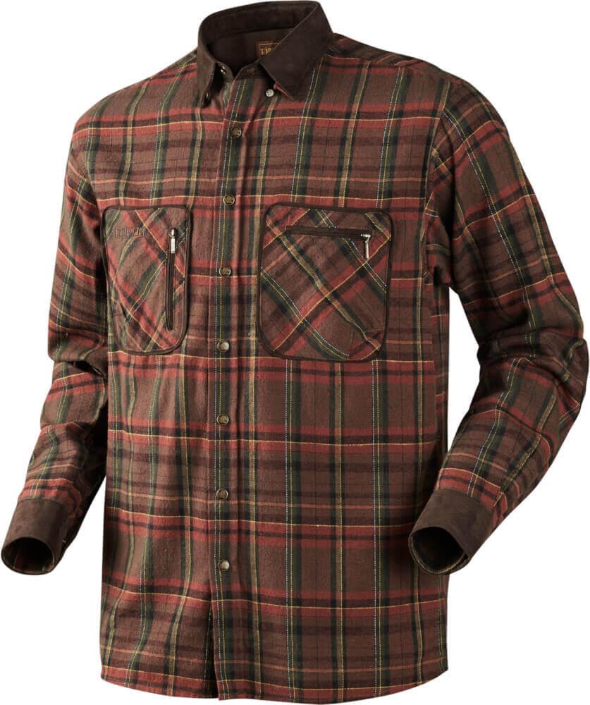 Jagdhemd Pajala red check aus reiner Baumwolle von Härkila