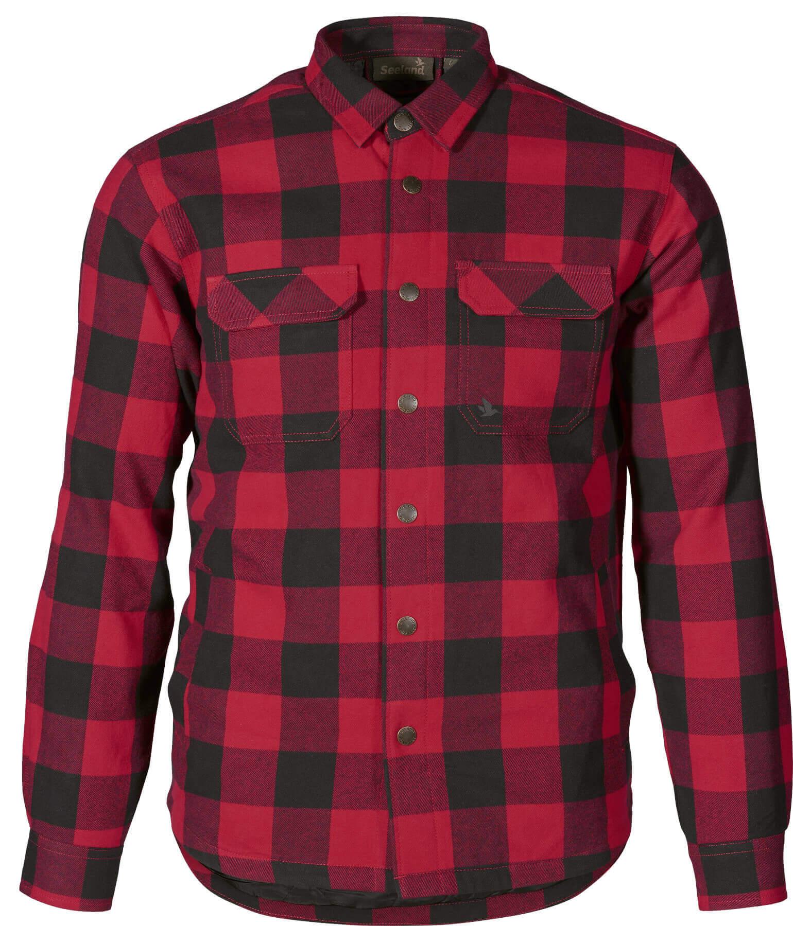 Rotkariertes Flanellhemd in Holzfälleroptik
