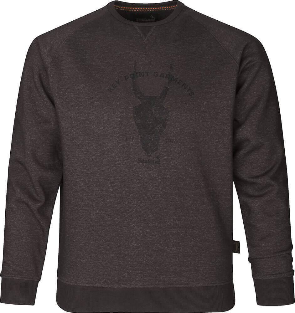 Sweatshirt Key-Point After Dark melange mit Motiv von Seeland