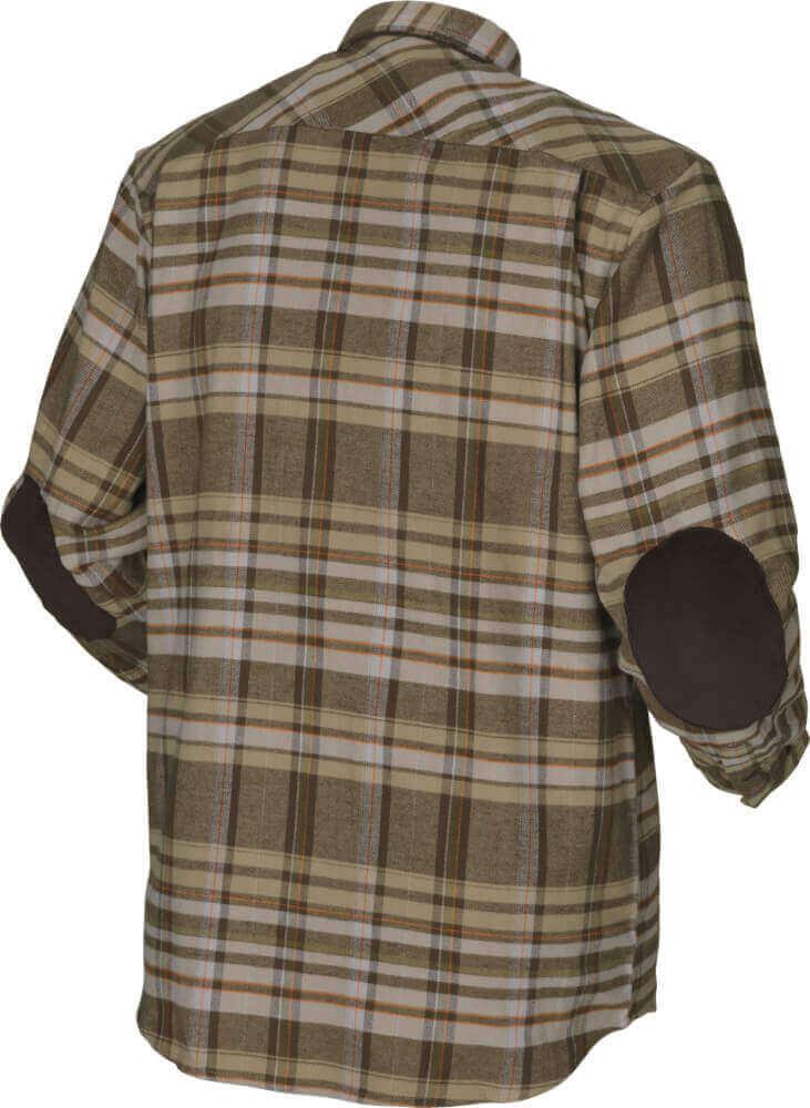 Hemd Eide khaki check mit 2 Brusttaschen von Härkila
