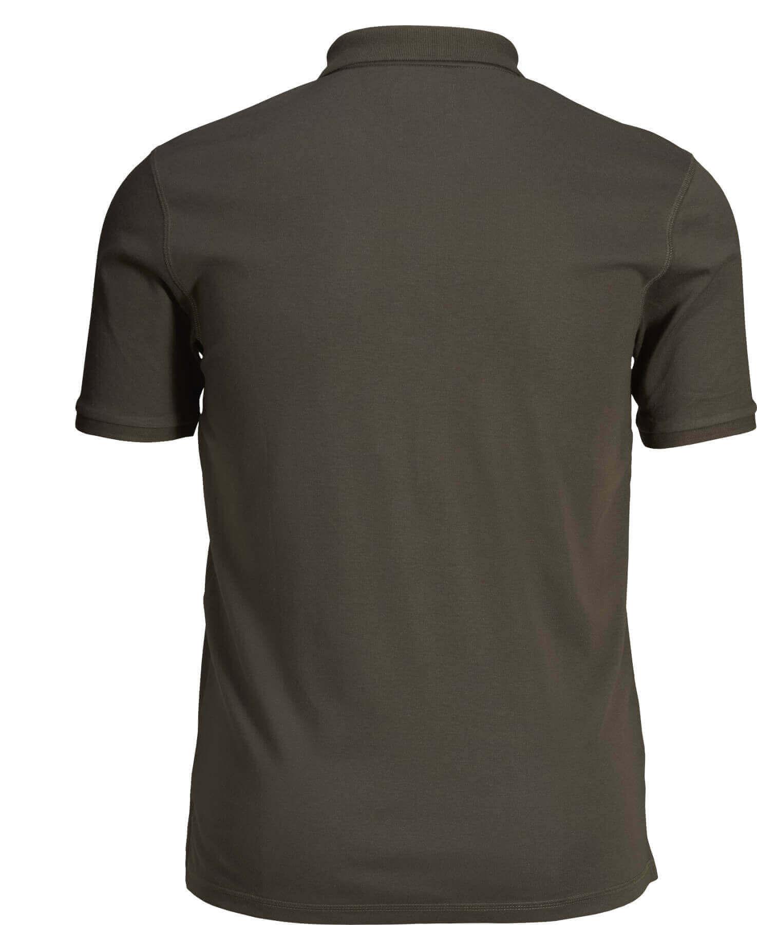 Poloshirt Skeet  Classic Green  Rückenansicht reine Baumwolle von Seeland