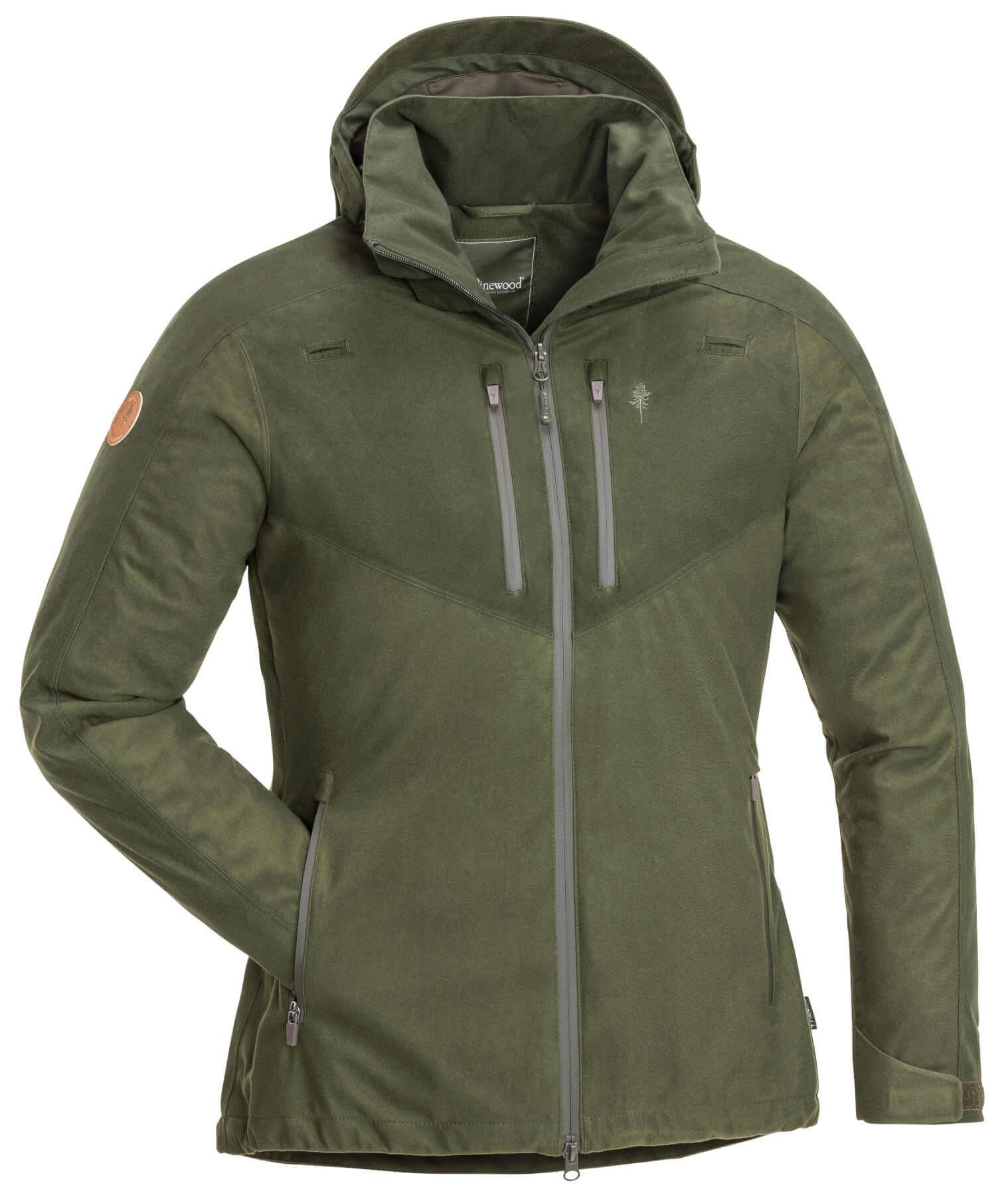 Damenjagdjacke Retriever Active mossgreen darkgreen mit Kapuze und Taschen