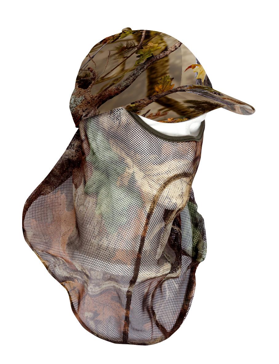 Camouflagekappe mit Gesichtsmaske von Percussion