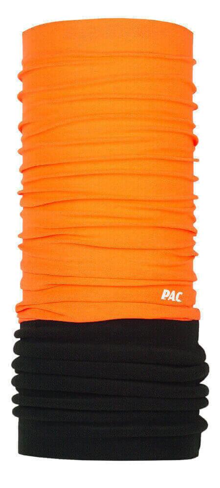 Multifunktionstuch Halstuch aus Merinowolle und Fleece orange von P.A.C