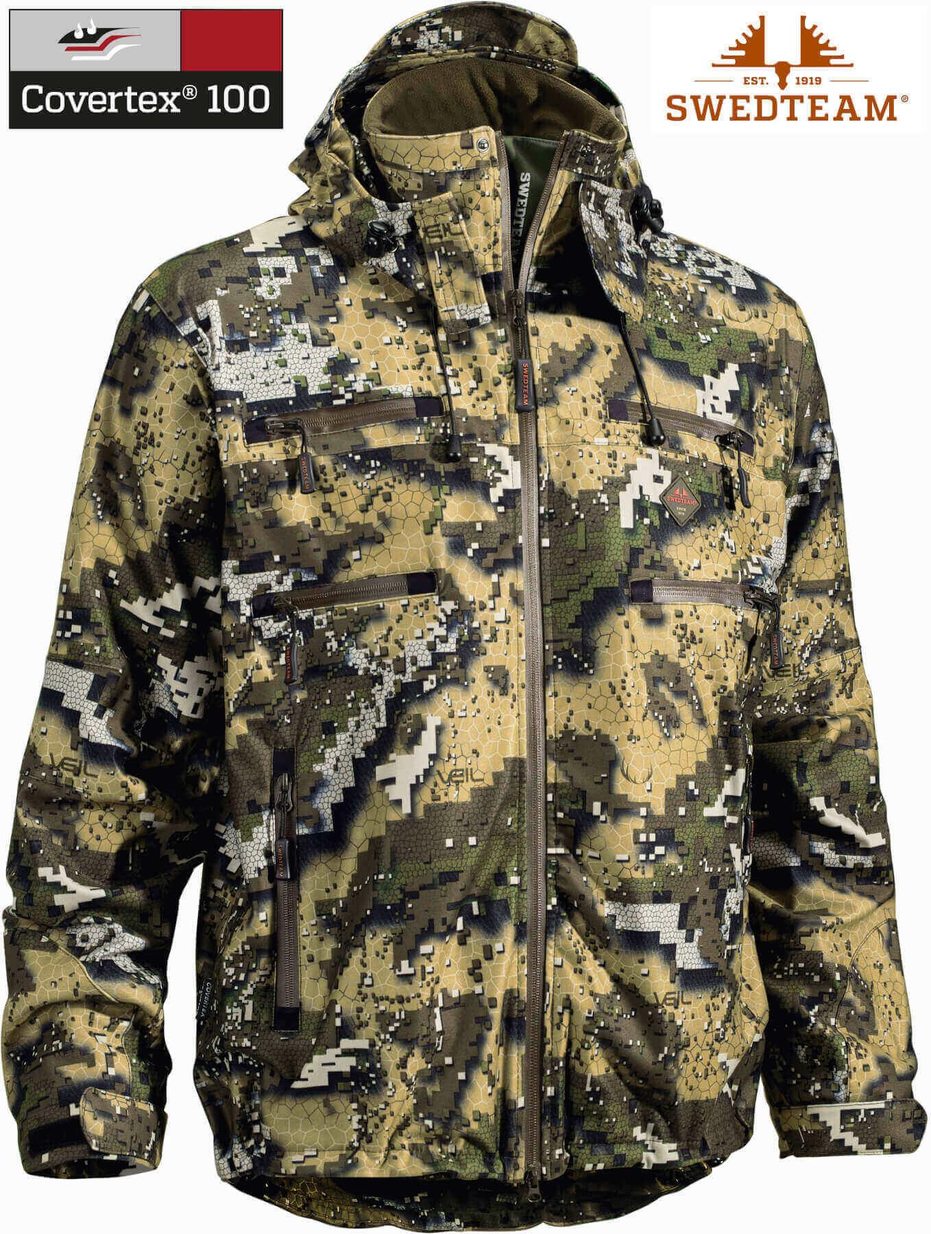 Camouflagejacke Ridge Pro im Desolve Veil Muster mit Covertex-Membran von Swedteam