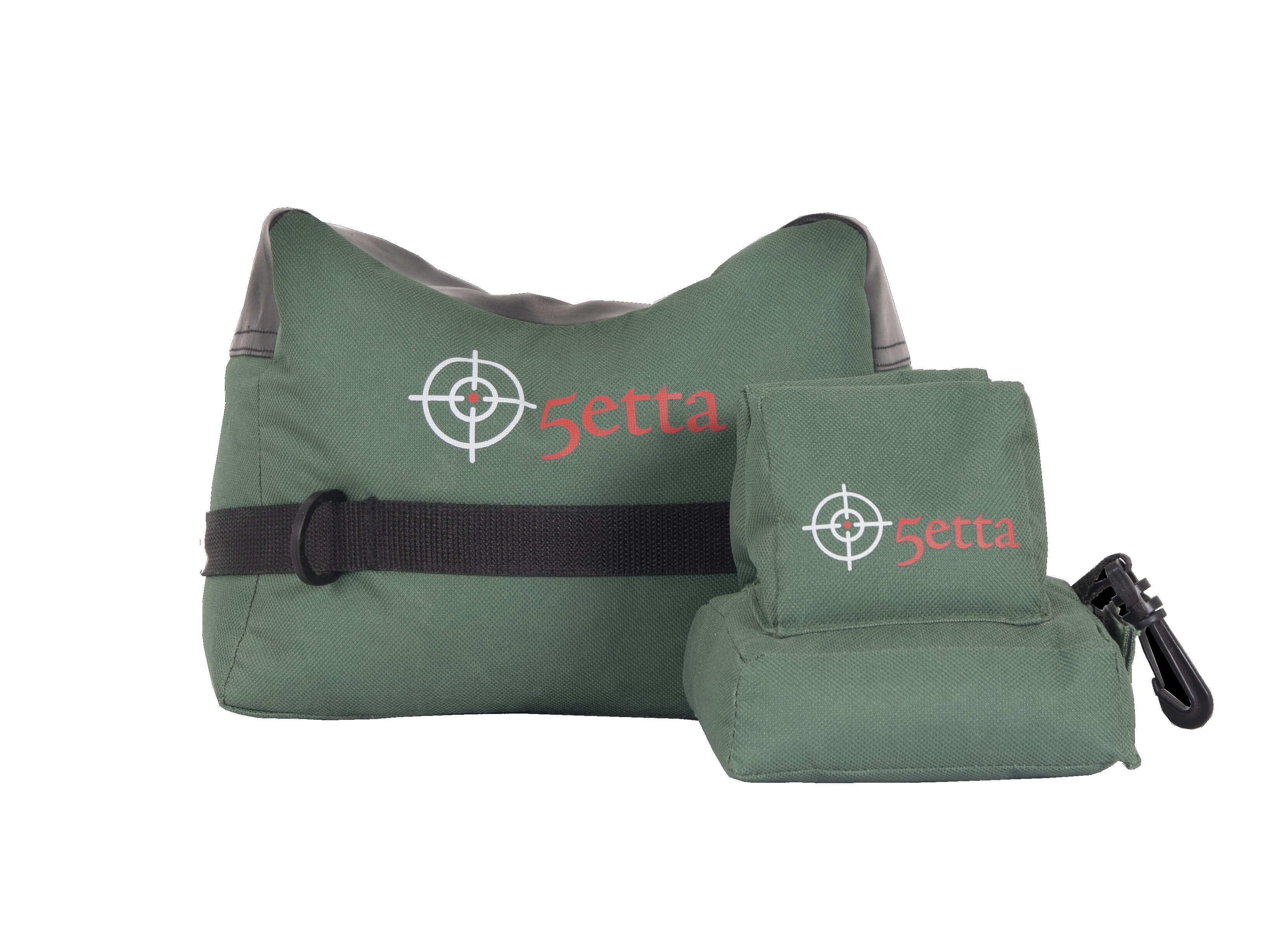 Vorder- und Hinterschaftauflage aus grünem Nylon für den präzisen Schuss