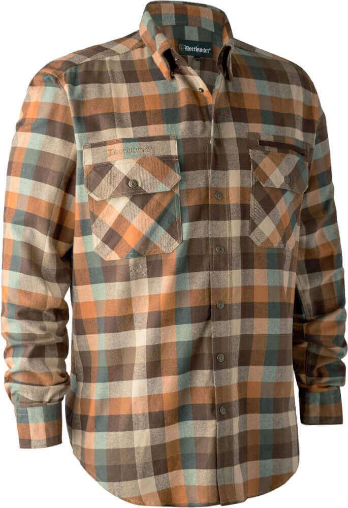 Jagd- und Freizeithemd James brown-check aus Baumwolle von Deerhunter