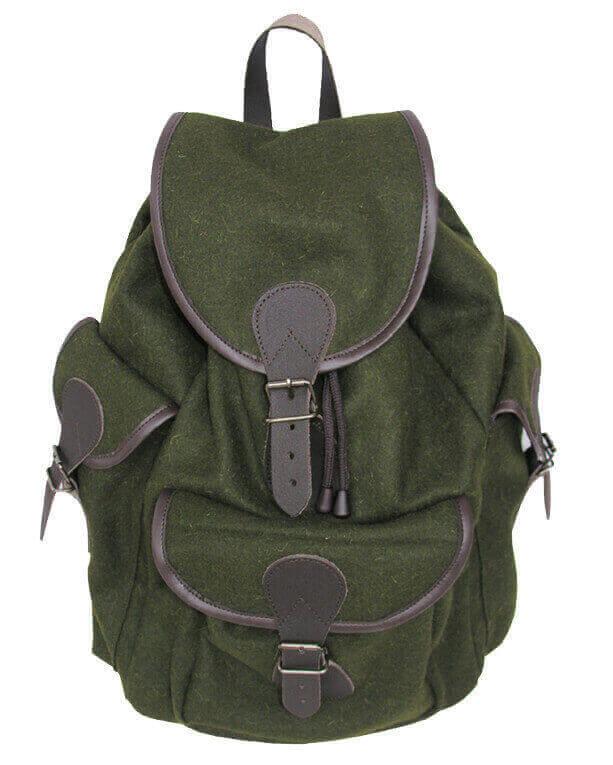 Lodenrucksack grün mit 3 Aussentaschen für Damen und Kinder Jagdversand Becker