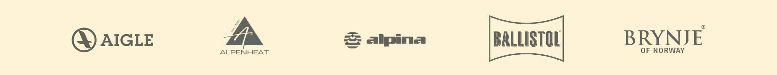 Markenslider mit Aigle,Alpenheat,Alpina, Ballistol und Brynje