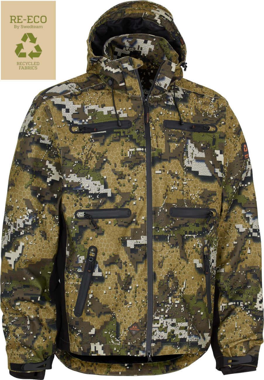 Camouflagejacke Arrow Pro aus recycltem Polyester mit NeoNordic-Membran von Swedteam