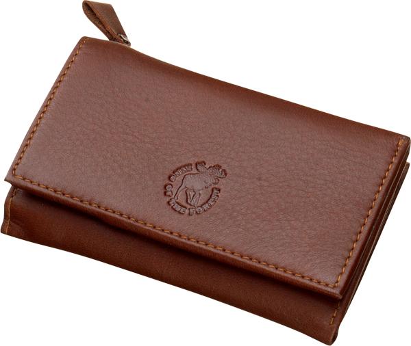 Geldtasche mit RV aus echtem Elchleder