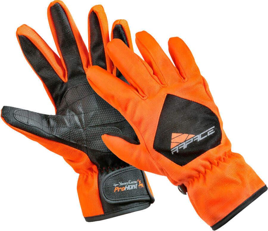 Durchgeh Handschuh aus reißfestem Cordura in signalorange von Percussion