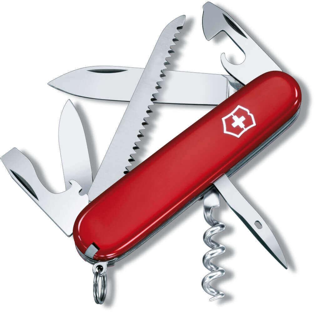 Outdoormesser Camper rot mit 13 Funktionen von Victorinox