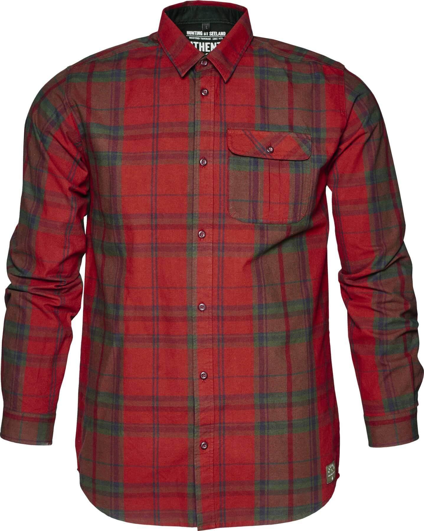 robustes Freizeithemd Conroy in rotem Karo für die Freizeit von Seeland