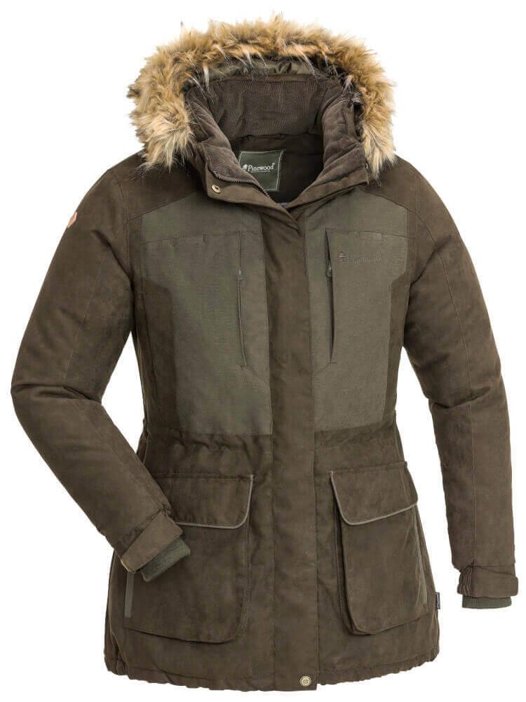 Winterjacke Damen wasserdicht in braun von Pinewood Abisko 2.0