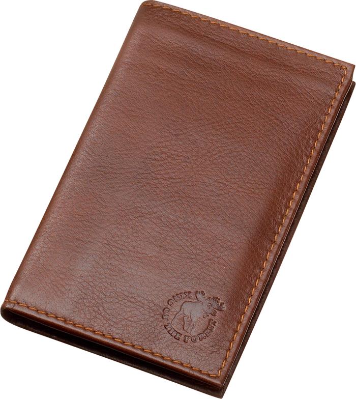 Brieftasche mit 12 Fächern aus echtem Elchleder